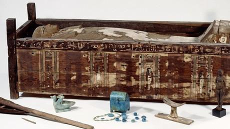Sarcophagus of Tadja, Abusir el-Meleq © Sandra Steiss / Aegyptisches Museum und Papyrussammlung / shh.mpg.de
