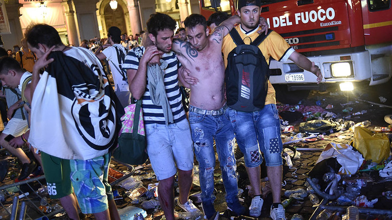 Hundreds injured in Turin stampede after bomb scare during Champions League final (PHOTO, VIDEO)