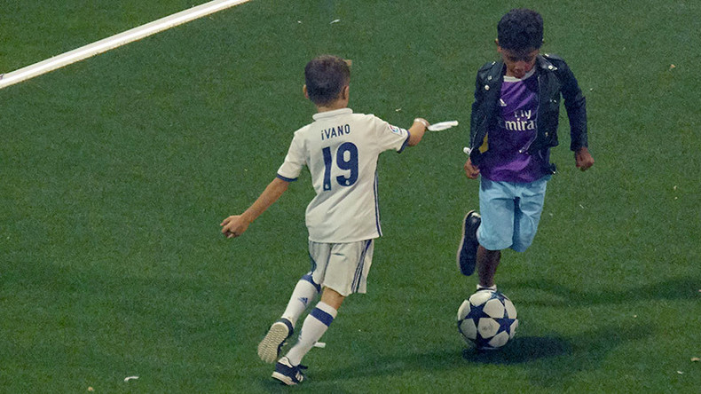 Runs in the family! Cristiano Ronaldo Jr displays dazzling dribbling skills at UCL final