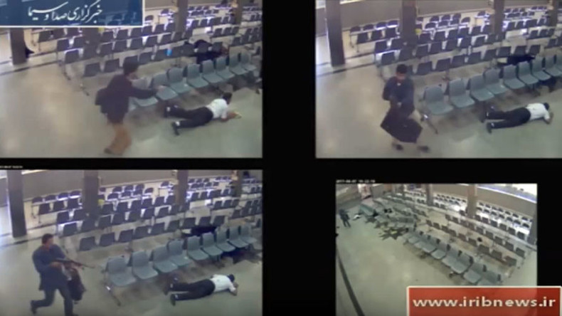 Moment terrorists storm Iran parliament caught on CCTV (EXTREMELY GRAPHIC)