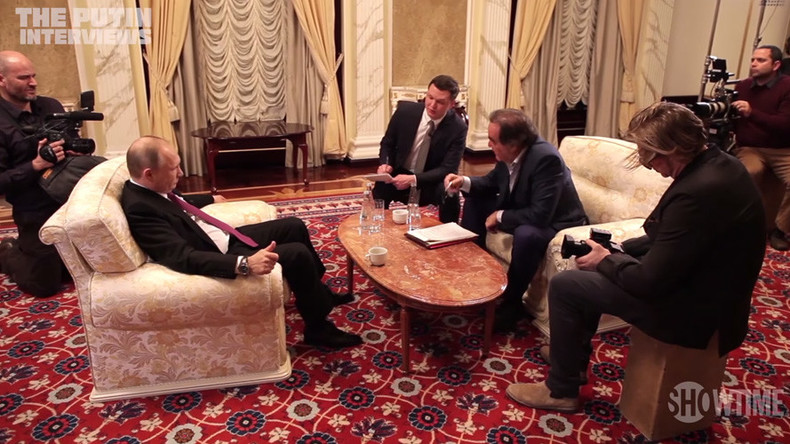 Putin to Oliver Stone: 'I like McCain's patriotism & consistency, but he is living in the past'