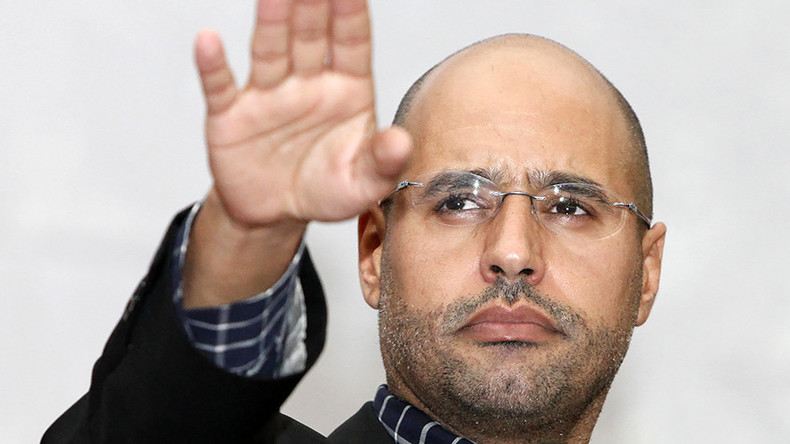 Gaddafi's son released from prison, Libyan militia says
