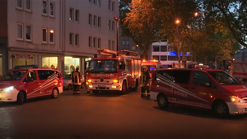 Dozens injured, incl. 10 children, as huge blaze rocks refugee center in Bremen (VIDEO)