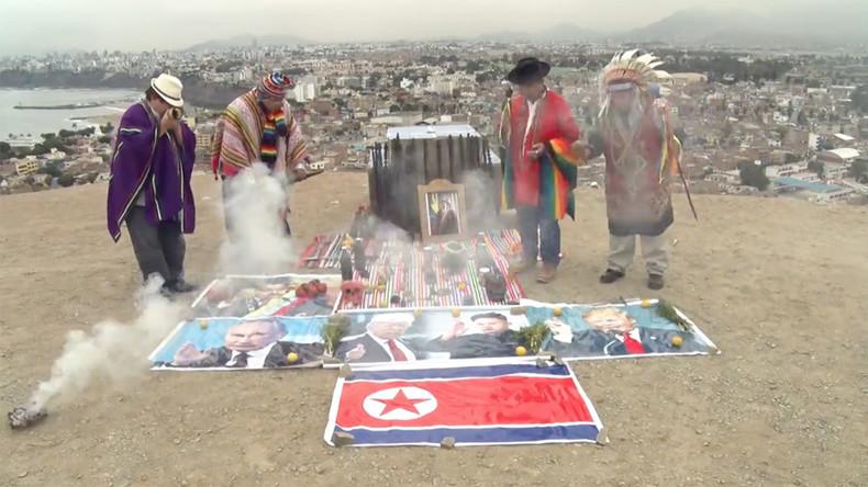 Peruvian shamans perform peace ritual for Trump & Kim Jong-un (VIDEO)