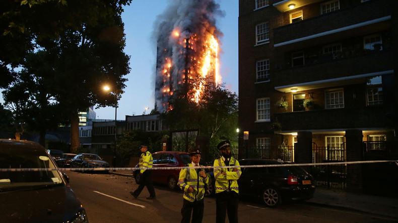Dramatic images show devastating London tower block blaze (PHOTOS)
