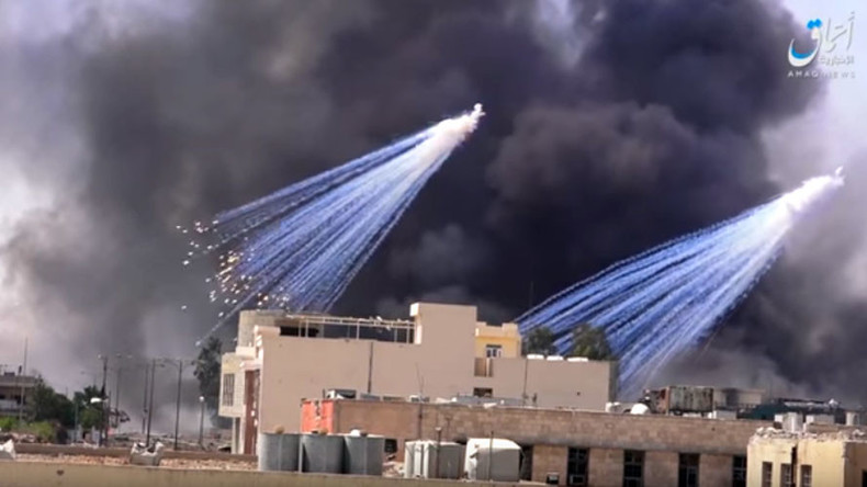 US-led coalition admits use of white phosphorus in Mosul amid mounting criticism