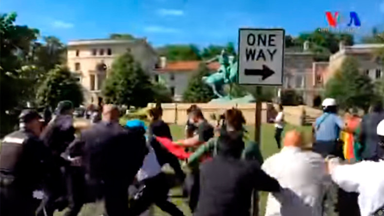Feds to charge 12 Turkish agents over Embassy brawl in DC – report