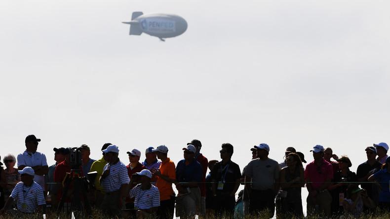 Blimp crashes at US Open, injuring pilot (PHOTOS, VIDEOS)