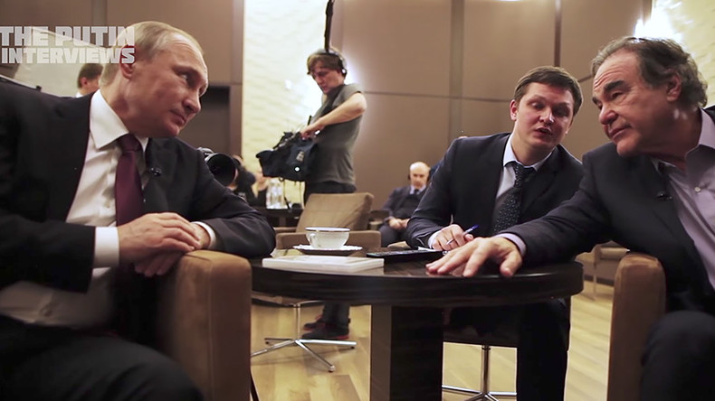 Stone's 'Putin Interviews' offend a US establishment drunk on its own exceptionalism