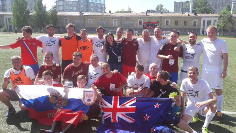 'We came with open minds': NZ fans enjoy Petersburg's White Nights, win vs. Russian fan team