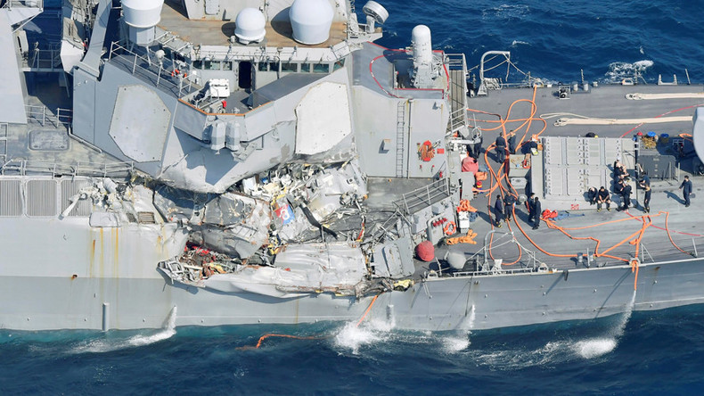 Missing sailors found dead in damaged US destroyer following collision near Japan – Navy