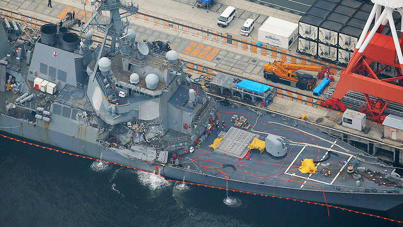 55 min. to report collision? Japan probes freighter crew's actions after hitting US destroyer