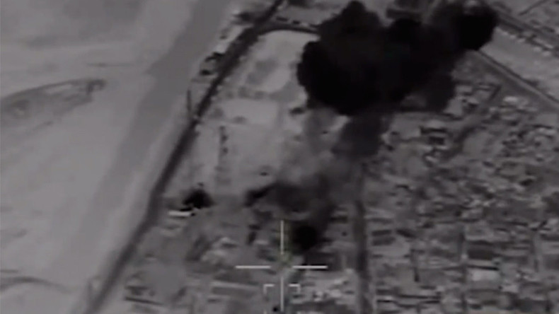 Drone footage shows Iranian missiles striking ISIS targets in Syria (VIDEO)