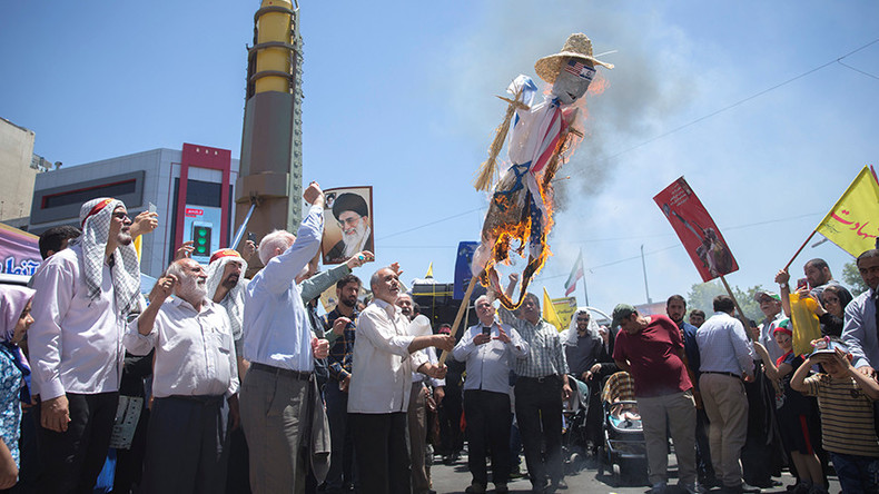 Iranians chant 'Death to Israel & America!' on Quds Day as Rouhani joins rally (PHOTOS, VIDEO)