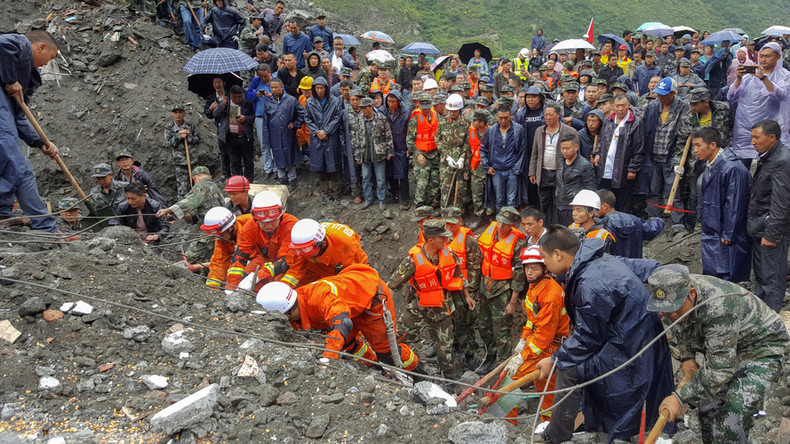 15 dead in landslide that crushed over 60 houses, buried 120+ people in China (PHOTOS, VIDEO)