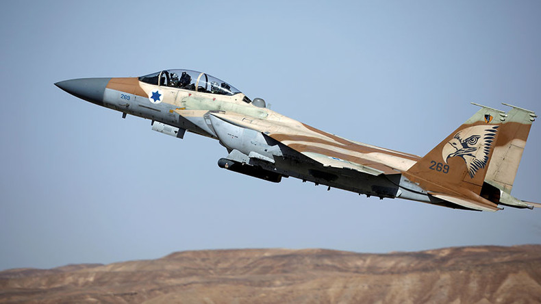 Israeli warplanes target 2 Syrian tanks over spillover cross-border fire (VIDEO)