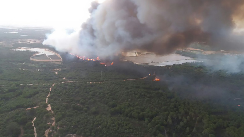 1000s evacuated as Spanish wildfire rips through UNESCO World Heritage site (PHOTOS, VIDEOS)