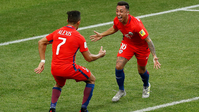 Chile 1-1 Australia: South American champs come through battle to reach Confed Cup semifinals