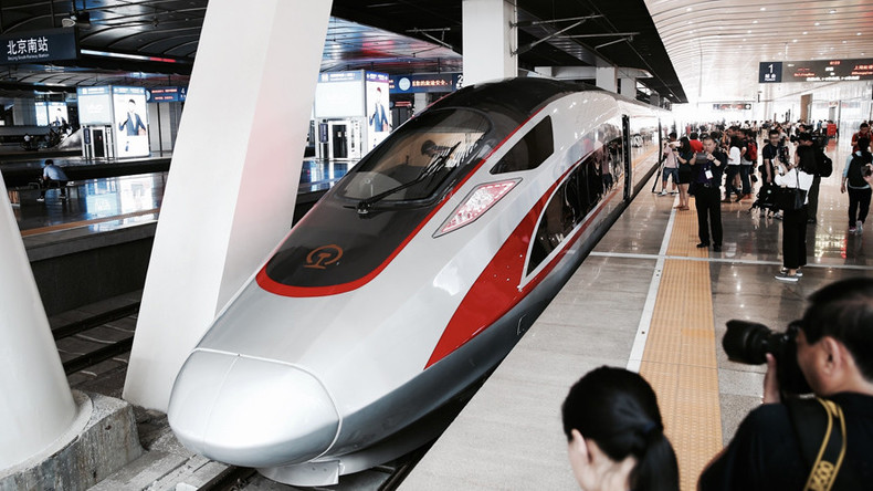 China unveils first domestically-built bullet train
