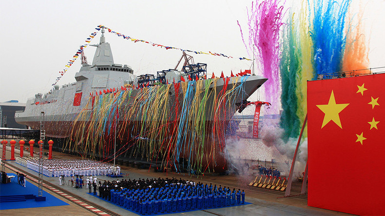 China launches new generation 10,000-ton missile destroyer in Shanghai