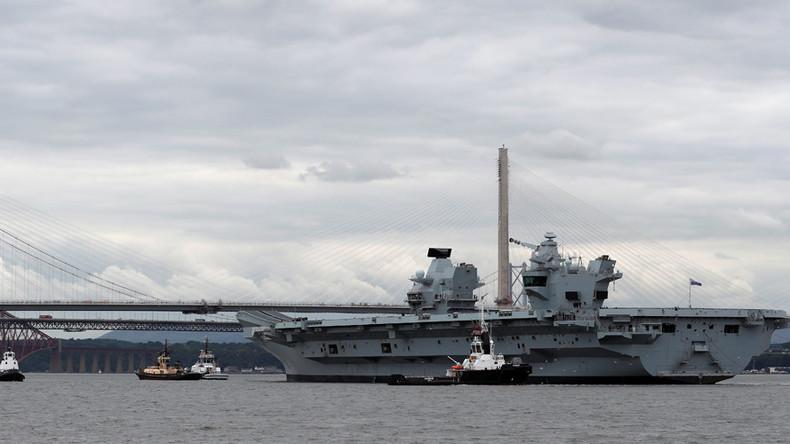 'Big convenient marine target' – Russian MoD on new British aircraft carrier HMS Queen Elizabeth