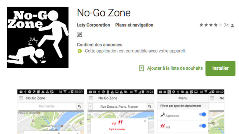 'No-Go Zone' app allows Parisians to report & locate aggression, other crimes