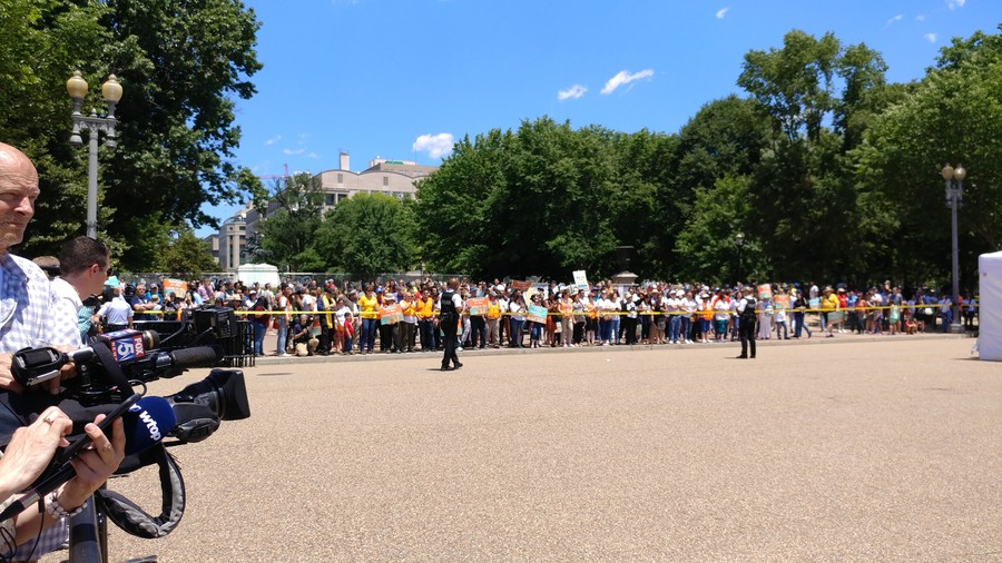 19 arrested protesting deportations, family detention outside White House