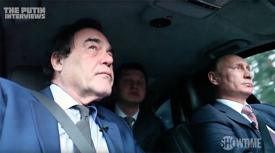 Putin gives Oliver Stone a lift, says Snowden not a traitor, but 'what he did was wrong'