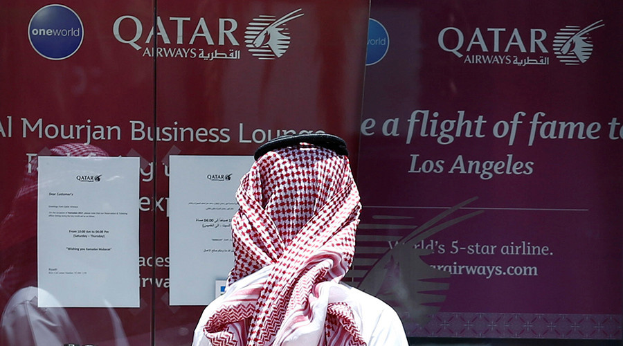 Arab states in the Persian Gulf suspend all flights to and from Qatar