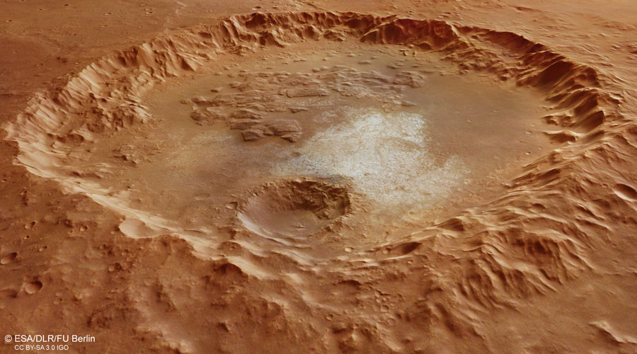 Massive Martian crater 'proof of Red Planet's watery past' – ESA (PHOTO)