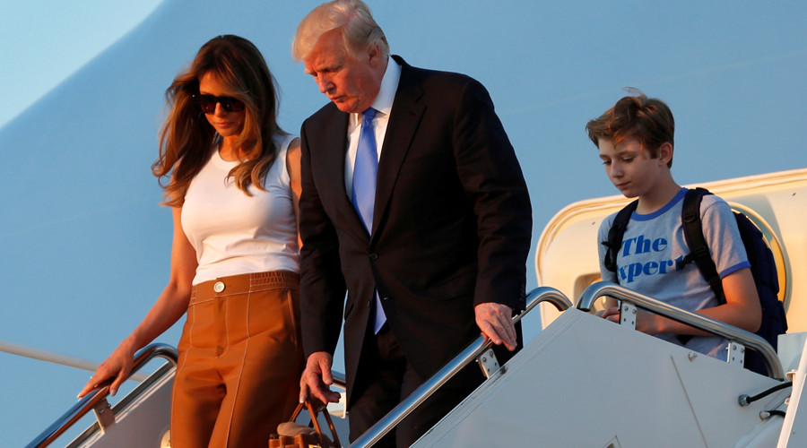 Home at last: US First Lady and son Barron finally move into White House