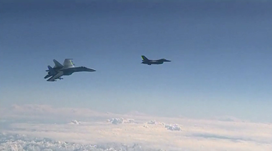 Pentagon releases footage of Russian Su-27 intercepting US spy plane over Black Sea (VIDEO)