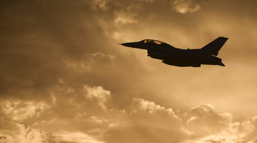 F-16 catches fire on takeoff in Texas, pilot ejects