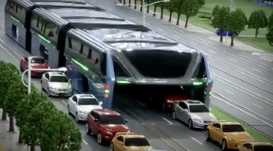 End of the road: China's futuristic 'straddling' bus test site demolished