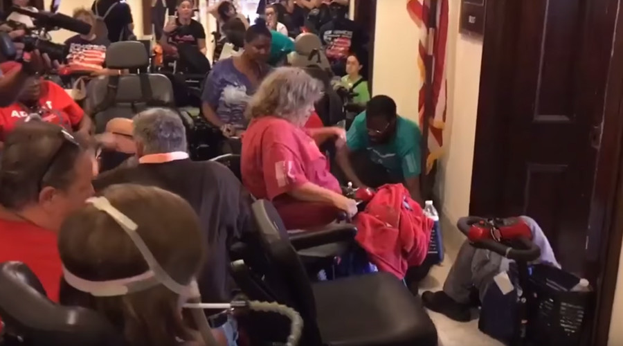 Disabled protesters dragged from healthcare bill protest in Capitol Hill  (PHOTOS, VIDEOS)