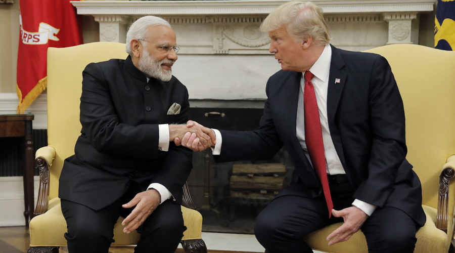 Trump hosts Indian PM Modi to discuss H1-B visas, security & more