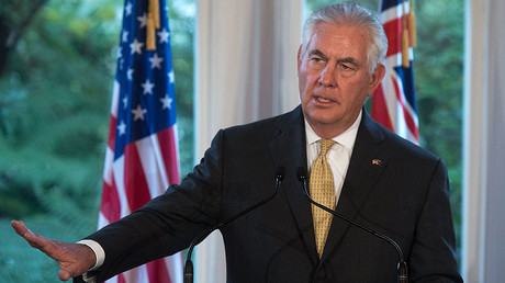 US Secretary of State Rex Tillerson speaks to the media during a joint press conference in Wellington, New Zealand on June 6, 2017. © AFP