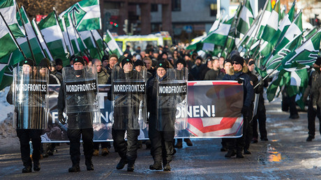 The neo-nazi Nordic Resistance Movement © Jonathan Nackstrand