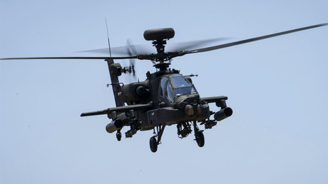 An Army AH-64 Apache helicopter © U.S. Department of Defense