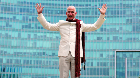 Amazon founder & CEO Jeff Bezos © Abhishek N. Chinnappa