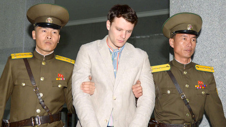Otto Frederick Warmbier (C), a University of Virginia student who was detained in North Korea © Kyodo