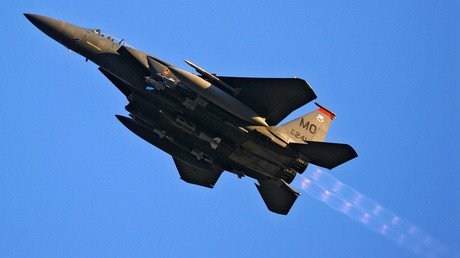 FILE PHOTO: A U.S. Air Force F-15 fighter jet © Bob Strong