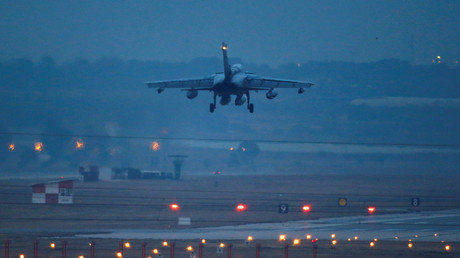 FILE PHOTO A German air force Tornado jet lands at Incirlik airbase in Adana, Turkey © Umit Bektas