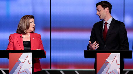Republican candidate Karen Handel and Democratic candidate Jon Ossoff © Chris Aluka Berry
