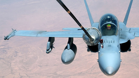 FILE PHOTO:  A U.S. Marine Corps F-18 Super Hornet © Senior Airman Preston Webb