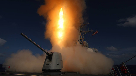 US Navy destroyer John Paul Jones (DDG 53) fires a missile interceptor in this file photo © USS John Paul Jones