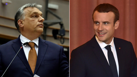 Orban & 'new boy' Macron engaged in verbal slugfest over EU policies