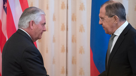 Russian Foreign Minister Sergei Lavrov and US Secretary of State Rex W. Tillerson © Sergey Guneev