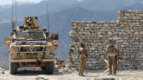 FILE PHOTO U.S. soldiers  in the Achin district of Nangarhar province in eastern Afghanistan © Parwiz