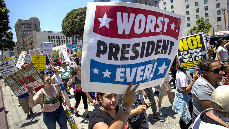 'Not my president': Protesters rally across US for Trump's impeachment